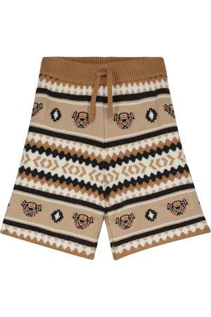 Burberry Intarsia-knit wool and cashmere shorts