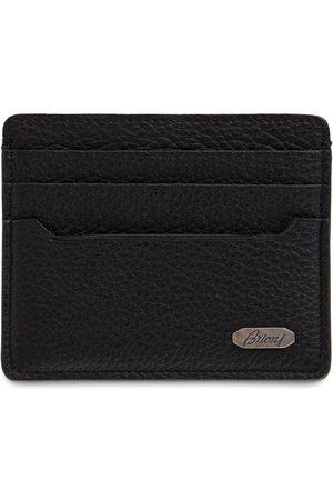 BRIONI Metal Logo Leather Card Holder