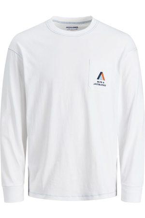 JACK & JONES Mænd Langærmede - Drenge Jersey Langærmet T-shirt Mænd White