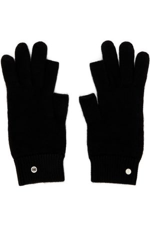 Rick Owens Black Cashmere Touch Screen Gloves