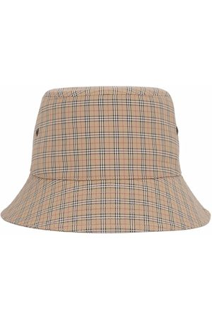 Burberry Mænd Hatte - Technical check bucket hat