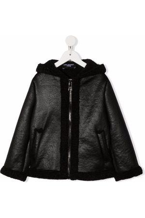 Neil Barrett Kids Hooded zipped jacket