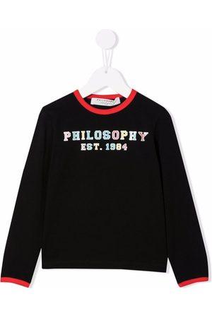 Philosophy Di Lorenzo Serafini Kids Piger Kortærmede - Multicolour logo-print top