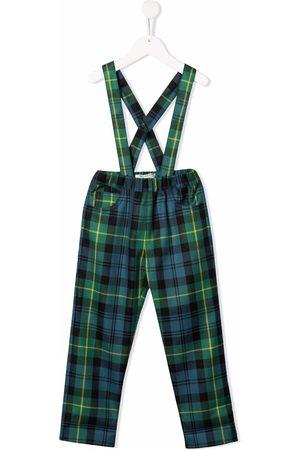 Philosophy Di Lorenzo Serafini Kids Piger Bukser - Tartan print suspender trousers