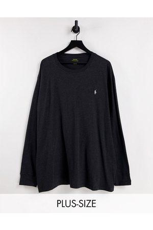 Polo Ralph Lauren Big & Tall - Top med lange ærmer og ikonlogo i meleret