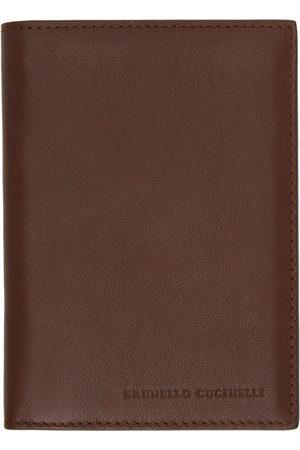 Brunello Cucinelli Brown Leather Card Holder