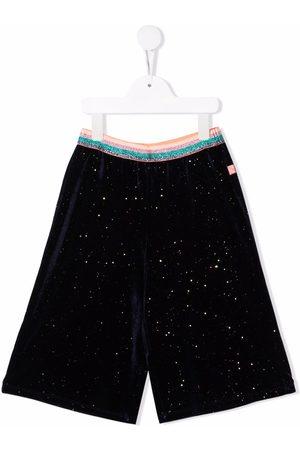 Billieblush Piger Shorts - Striped-print waistband shorts