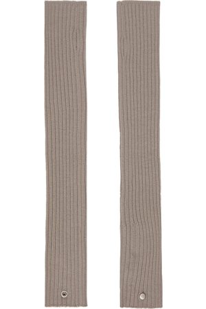 Rick Owens Off-White Wool Arm Warmers