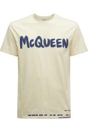 Alexander McQueen Printed Logo Cotton T-shirt