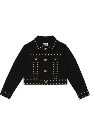 Moschino Teddy-studded denim jacket