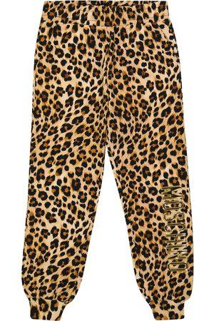 Moschino Leopard-print cotton jersey sweatpants