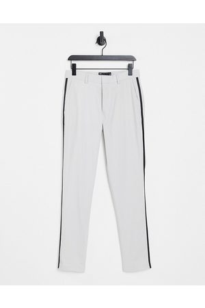 ASOS DESIGN Mænd Habitbukser - Skinny-habitbukser i isgrå
