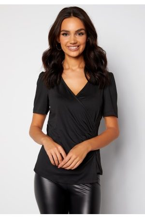 Happy Holly Simone ss puff top Black