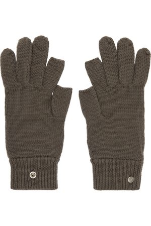Rick Owens Grey Cashmere Touch Screen Gloves