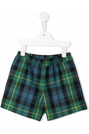 PHILOSOPHY DI LORENZO SERAFINI TEEN tartan-check elasticated shorts
