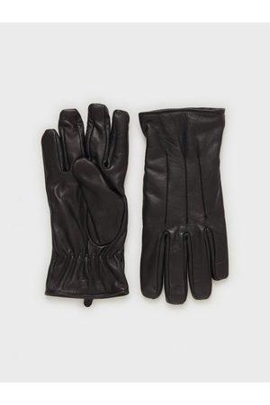 jack & jones Mænd Handsker - Jacmontana Leather Gloves Handsker & vanter Sort