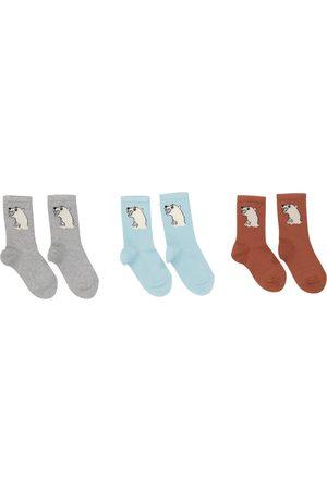 Mini Rodini Set of 3 pairs of cotton-blend socks