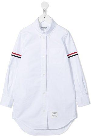 Thom Browne Oxford-skjortekjole i bomuld med grosgrain-armbånd