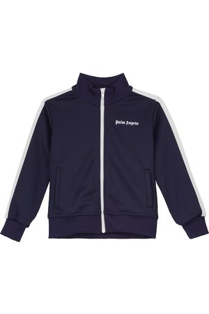 Palm Angels Kids Zipped logo sweatshirt