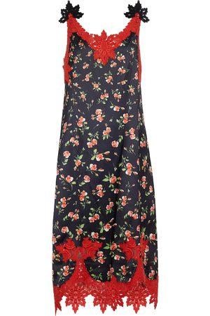 Paco rabanne Floral printed midi dress