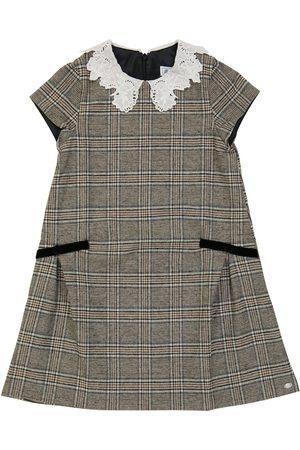 Tartine Et Chocolat Checked wool-blend dress