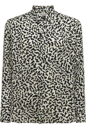 Saint Laurent Mænd Langærmede skjorter - Printed Silk Shirt
