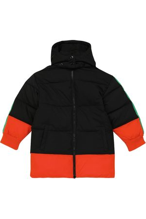 STELLA McCARTNEY Kids Logo colorblocked padded coat