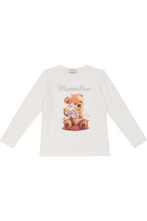 MONNALISA Printed cotton jersey top