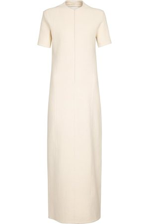 Jil Sander Cotton and wool jersey maxi dress