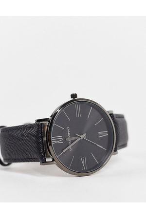 ASOS Mænd Ure - Klassisk ur med saffiano-rem i