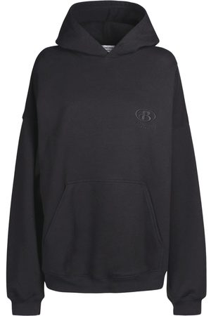 Balenciaga Embroidered Cotton Jersey Hoodie