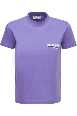 Balenciaga Slim Fit Embroidered Logo Cotton T-shirt