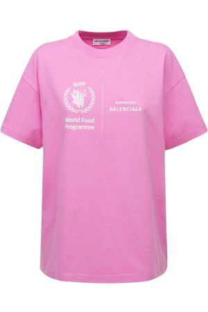 Balenciaga Wfp Logo Cotton T-shirt