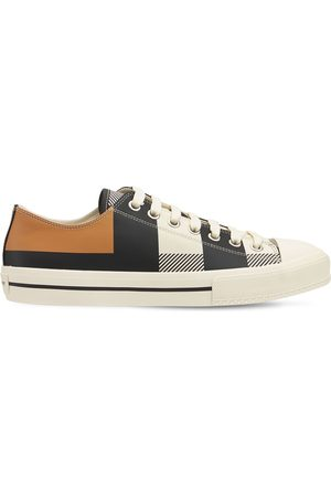 Burberry Larkhall Leather Low Sneakers