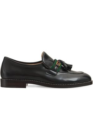 Gucci 20mm Web Patent Leather Loafers