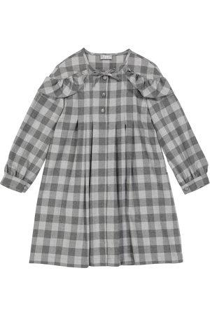 Il gufo Ruffle-trimmed checked dress