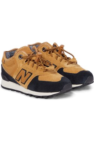 New Balance Kids 574 Core suede sneakers