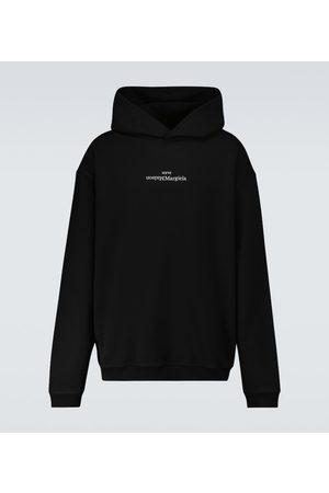 Maison Margiela Mænd Sweatshirts - Upside down logo hooded sweatshirt