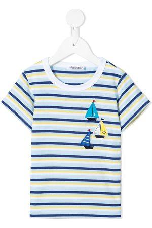 Familiar Stribet T-shirt med applikation