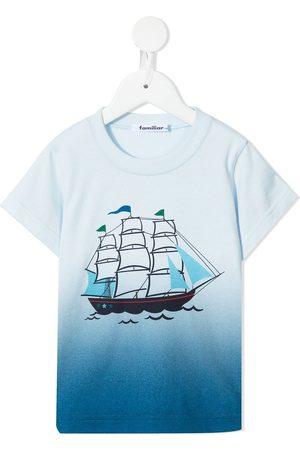Familiar T-shirt med gradueret tryk