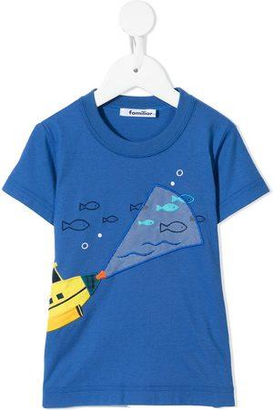 Familiar T-shirt med submarine-motiv