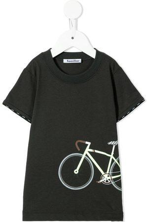Familiar T-shirt med cykeltryk