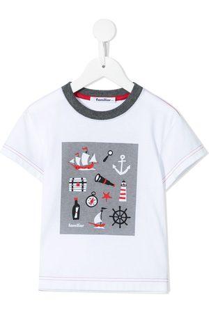 Familiar Drenge Kortærmede - T-shirt med grafisk tryk