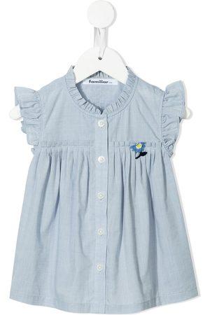 Familiar Piger Bluser - ærmeløs bluse med blomsterbroderi