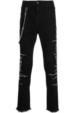 Haculla Jeans med smal pasform og kædelink