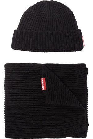 Dsquared2 Sæt med strikket hue og tørklæde