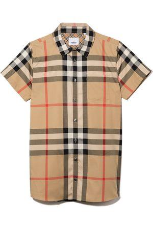 Burberry Kids Vintage-ternet skjorte med korte ærmer