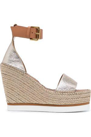 See by Chloé Kvinder Sandaler med kilehæl - Splash espradille-sandaler med kilehæl