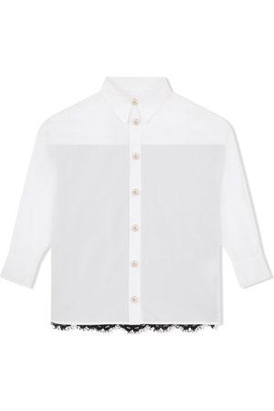 Dolce & Gabbana Kids Langærmet skjorte med blonde