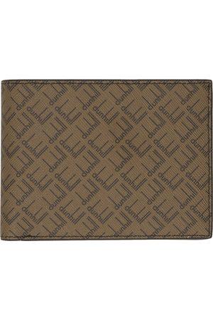Dunhill Beige & Brown Signature Bifold Wallet